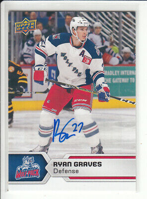 17/18 Ud Upper Deck Ahl Ryan Graves Base Autograph Auto #18