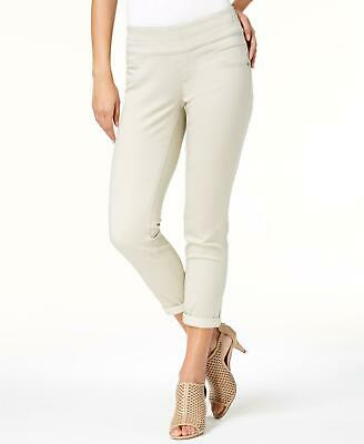 Style & Co. 0529 Size 12 Womens NEW Beige Solid Ankle Pants Tummy Control $49