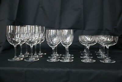 Baccarat Montaigne Glasses // Set  //  8 Champagne &  6 Water Goblets & 6 Wine