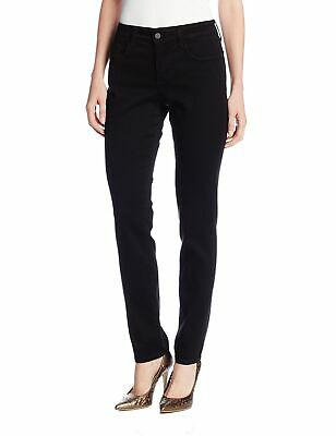 NYDJ Women's Jeans Black Size 14P Petite Alina Jeggings Stretch $110 #855