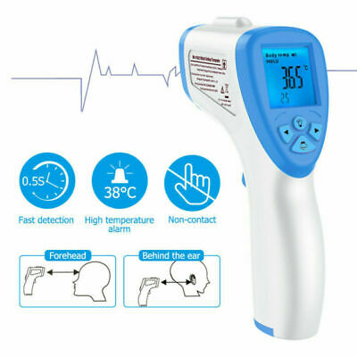 Non Contact Digital IR Infrared Forehead Thermometer Gun Adult Boby Temperature
