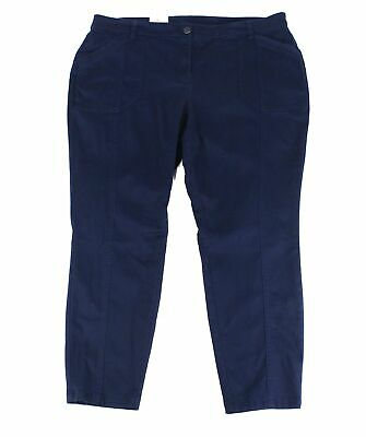 Style & Co. Womens Blue Size 20W Plus Skinny Leg Mid-Rise Pants Stretch $59 #197