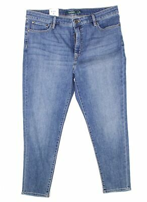 Lauren by Ralph Lauren Womens Blue Size 14 Skinny Cropped Jeans Stretch $89 #367