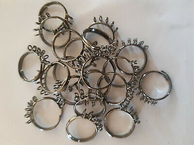 20 x Beaded Ring Bases - Adjustable- NEW!