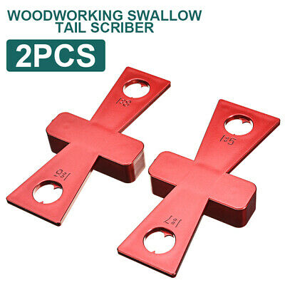 2x DIY Woodworking Dovetail Marker Wood Joints Gauge Guide Tool for Carpenter