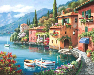 Paint By Number Kits Oil Painting Wall Art DIY Craft Landscape Adults Kids Lake