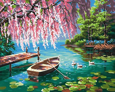 Paint By Number Kits Oil Painting Wall Art DIY Craft Landscape Adults Kids Decor