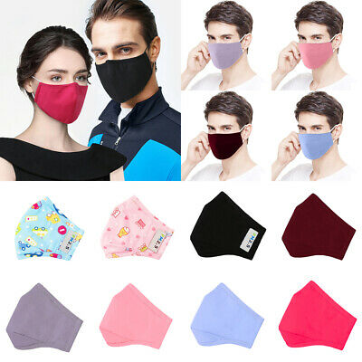 6x Washable Face Mouth Mask Breathable Face Cover Anti Air Pullution Respirator