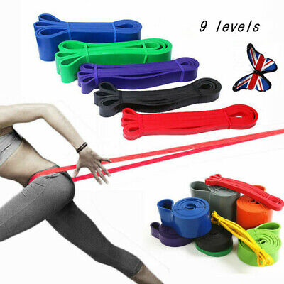 Resistance Bands Heavy Duty Yoga Assisted Pull Up Set Fitness Exercise Band Loop
