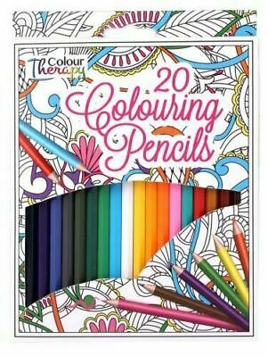 20 Professional assort Colour Therapy Colouring Pencils Artist Quality Relaxing