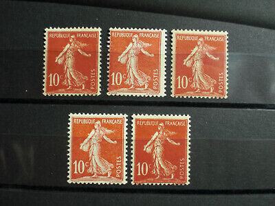 1906 France N° 134 lot timbres neufs  type Semeuse