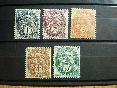 France lot timbres neufs **  N° 107 à 111 type Blanc