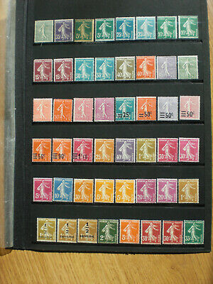 France lot timbres neufs  type Semeuse