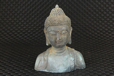 Chinese old bronze hand carved blessing buddha statue figure collectable gift