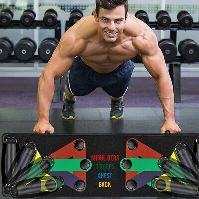9 In 1 Push Up Rack Board Men Women Comprehensive Fitness Exercise Push-up
