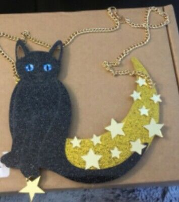 ACRYLIC CAT NECKLACE STARS ON  great for halloween 🎃