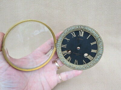 Antique French Black Slate Clock Dial, Bezel, And Glass