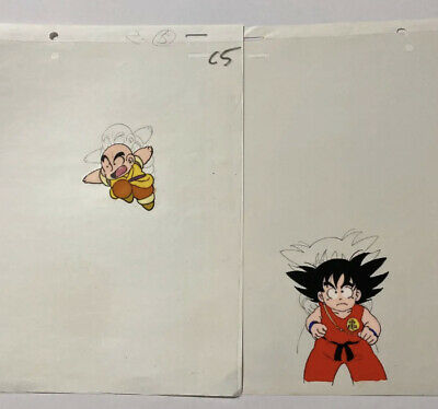 Dragon Ball Goku TWO-PIESE ANIME CELS Authentic Japan #19