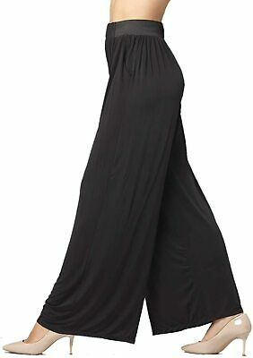 Premium Women'S Palazzo Pants With Pockets - High Waist - Solid And Printed De
