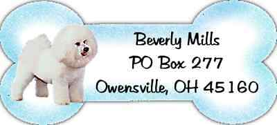 320 Bichon Frise return WATERPROOF address labels
