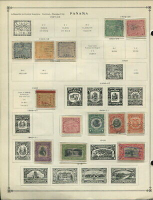 Panama / Palestine On Album Pages 1887 To 1949!