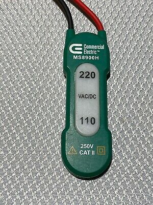 Commercial Electric 110/220 VAC Voltage Tester LED 2 Voltage Tester Lights Glow