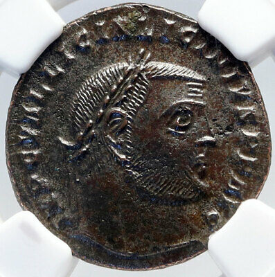 LICINIUS I Authentic Ancient 313AD Heraclea Roman Coin JUPITER EAGLE NGC i82898