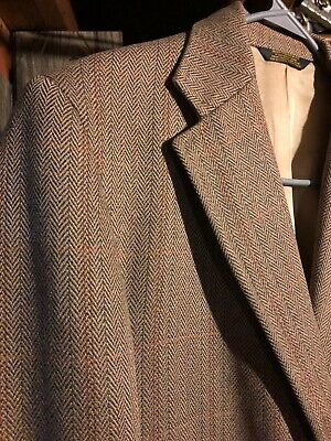 Vintage 42R J Press Mens Tweed Sport Coat Suit Jacket Blazer - Tears In Lining