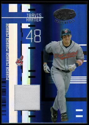 2005 Leaf Certified Materials Mirror Fabric Blue #144 Travis Hafner Jersey /100