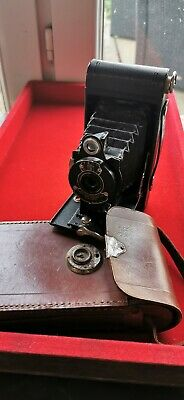 Camera Vintage Kodex Kodak - a Boot with Case Leather - REF55303