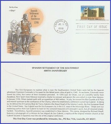 #3220 U/A ARTMASTER FDC   Spanish Settlement of the South