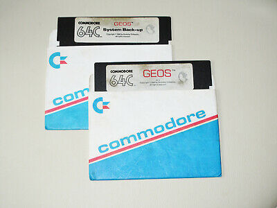 Commodore 64C GEOS OS Operating system Software disks 5.25. Like Amiga