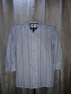 Chic Classic Collection  Womens  Size Large 3/4 Sleeve Button Up Blouse
