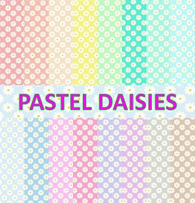 PASTEL DAISIES SCRAPBOOK PAPER - 16 x A4 pages
