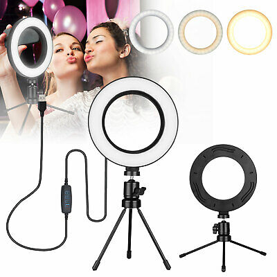 "6"" Dimmable 12000K LED Ring Light Kit with Stand for Makeup Phone Camera Selfie"