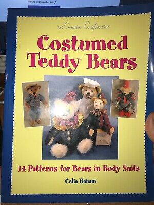 craft book - COSTUMED TEDDY BEARS - 14 patterns for bears in body suits