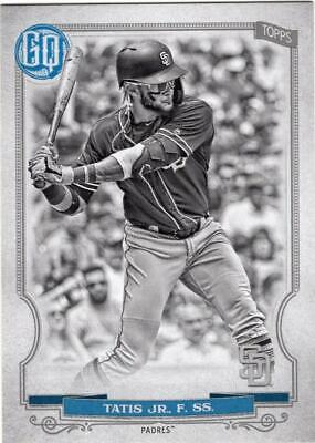 2020 Gypsy Queen Black And White #104 Fernando Tatis Jr.  /50 Padres
