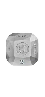 2020 Canada 3 oz Pure Silver $50 Dollars Diamond shaped Coin Forevermark Diamond