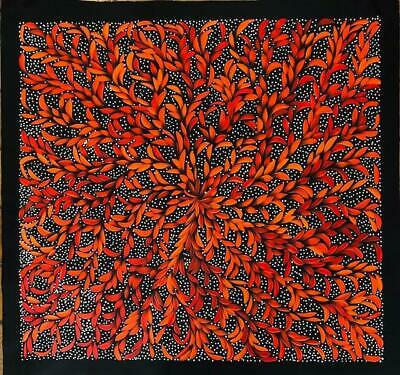 #13 Seeded Medicine Leaves - LOUISE NUMINA : Aboriginal Art: 95x101cm