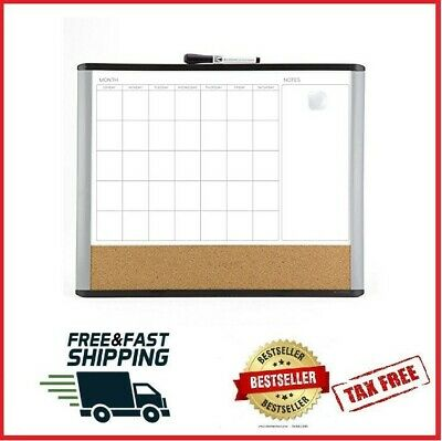 MAGNETIC DRY ERASE CALENDAR Board Wall Monthly Time Planner Whiteboard Pip