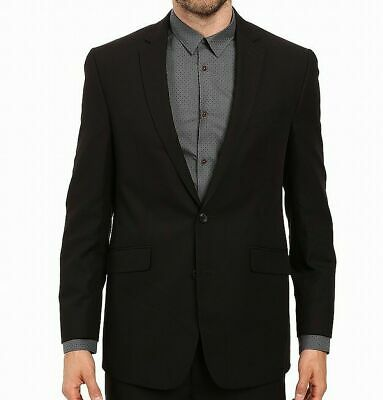 Kenneth Cole Mens Blazer Black Size 36 Short Two-Button Notched Collar $250 #633
