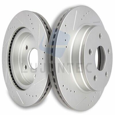 2002 2003 Fit Dodge Ram 1500 2WD//4WD OE Replacement Rotors w//Ceramic Pads F