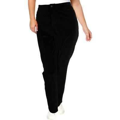 NYDJ Womens Alina Black Velvet Stretch Skinny Leggings Plus 24W BHFO 0367