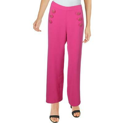 Julie Brown Womens Ahoy Pink Straight Leg Office Cropped Pants 4 BHFO 6761