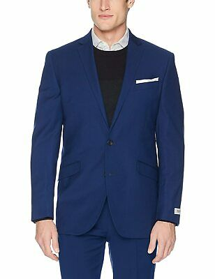 Kenneth Cole Reaction Mens Sport Coat Blue Size 46 Two-Button Stretch $295 #552