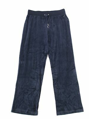 Calvin Klein Women's Blue Size 2X Plus Velour Wide Leg Pants Stretch $79 #333