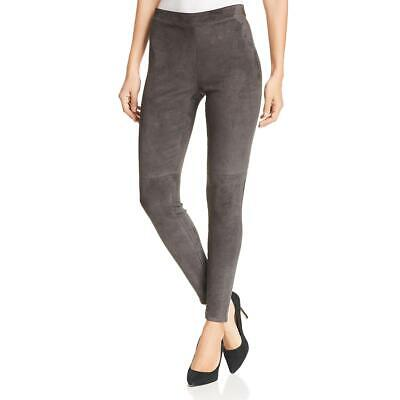 Elie Tahari Womens Roxanna Gray Suede Skinny High Rise Leggings XL BHFO 1770