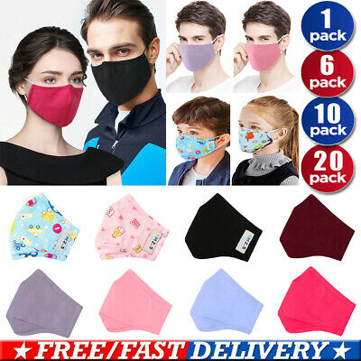 Child Adult Cotton Mouth Face Mask Breathable Washable Anti Fog Haze Filter
