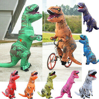 Kids Inflatable Dinosaur Blowup Outfit Fancy Costume Jurassic Park T-Rex Party
