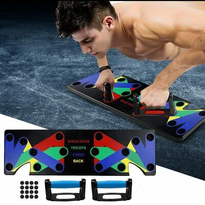9in1 Push Up Rack Board System Fitness Workout Training Home Gym Exercise Stands